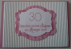 Geburtstag Auftrag 30 a
