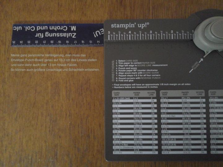 Verlängerung Envelope Punch Board