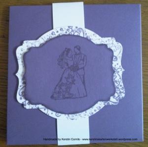 Hochzeit Lila Umschlag