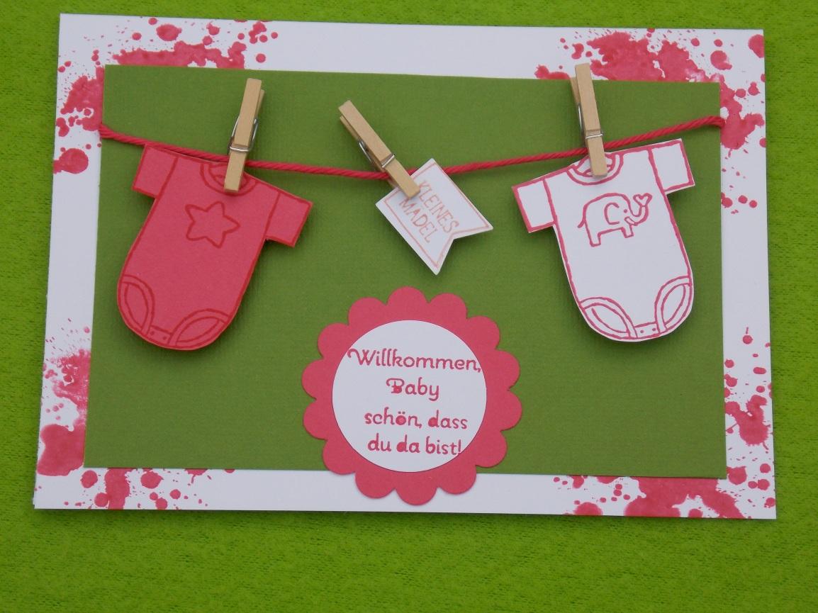 Vorerst meine letzte Babykarte…