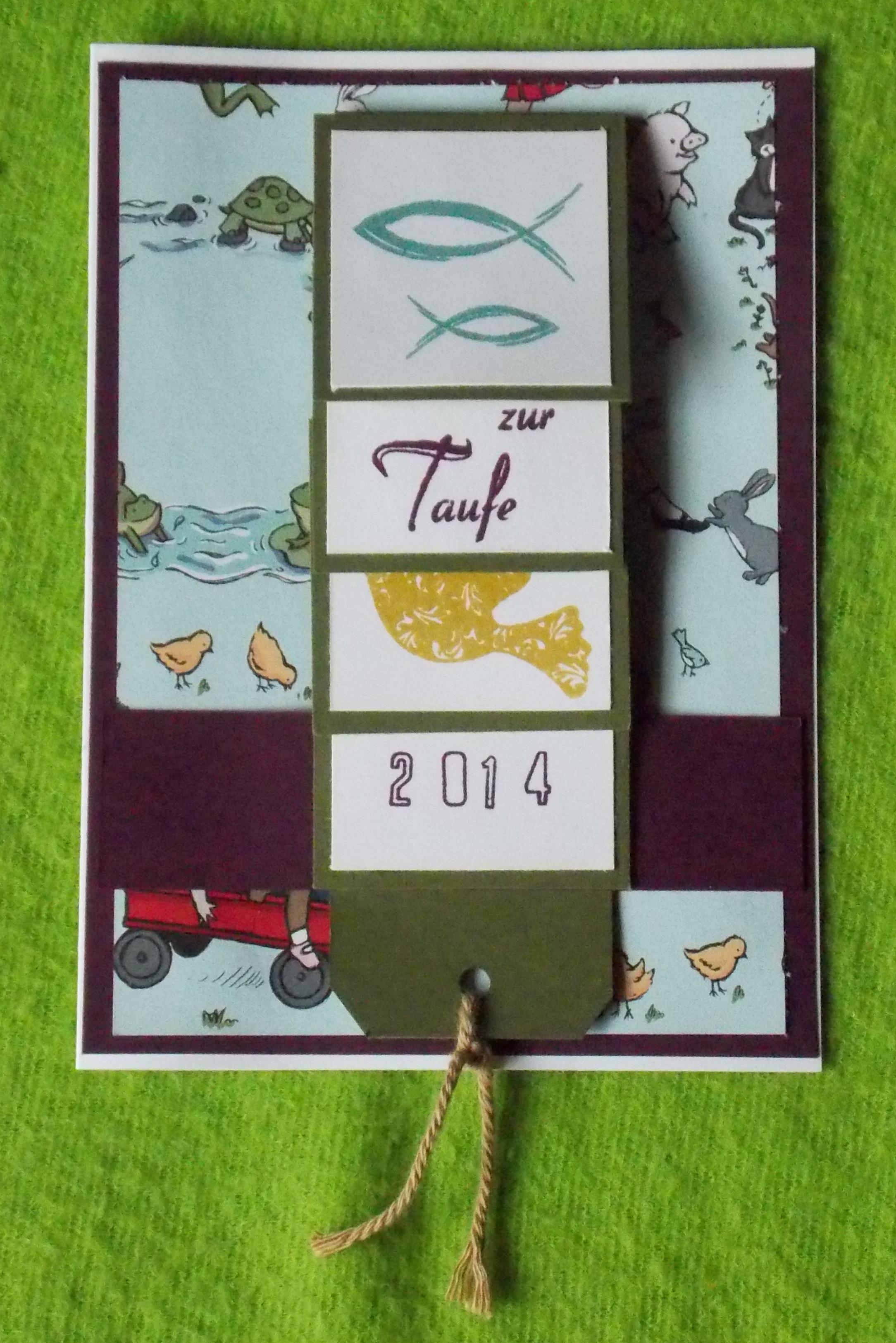 Wasserfallkarte zur taufe kerstins kartenwerkstatt for Garderobe zur taufe