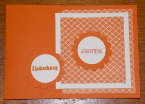 Einladung BDay Orangentraum