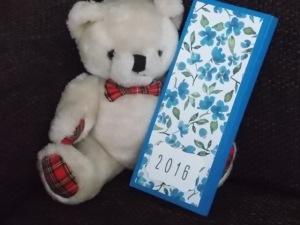 Kalender 2016 blaue Blüten