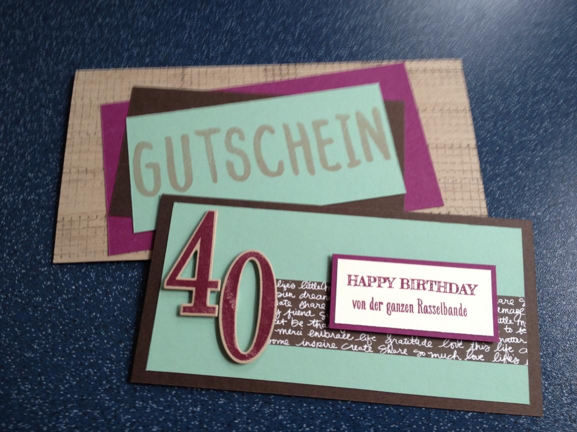 Gutschein zum 40.Geburtstag