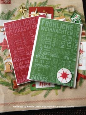HW 16 Weihnachten grün rot