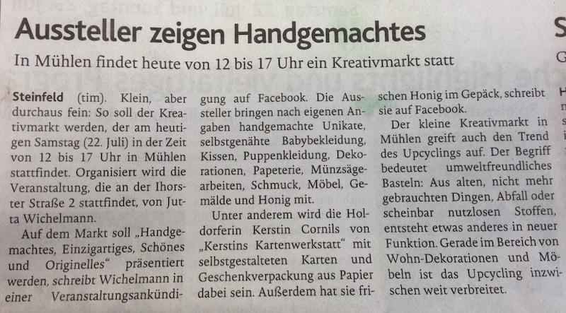 Oldenburgische Volkszeitung 22.07.17