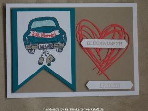 Hochzeitskarte mit Auto