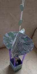 Heißluftballon mit Silberbrautpaar e