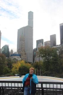 Eisbahn und ich im Central Park