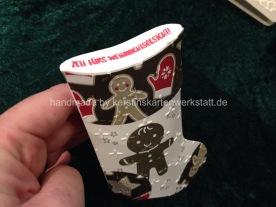 Socken aus Papier inklusive Pillowbox für kleine (Geld-)Geschenke zum Nikolaus und zu Weihnachten