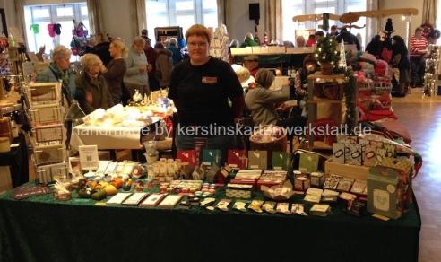 Kerstinskartenwerkstatt auf dem Weihnachtsmarkt im Gasthaus Sgundek in Vechta 2017