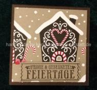 Buchbox mit Stampin Up Papier gestaltet zu Weihnachten