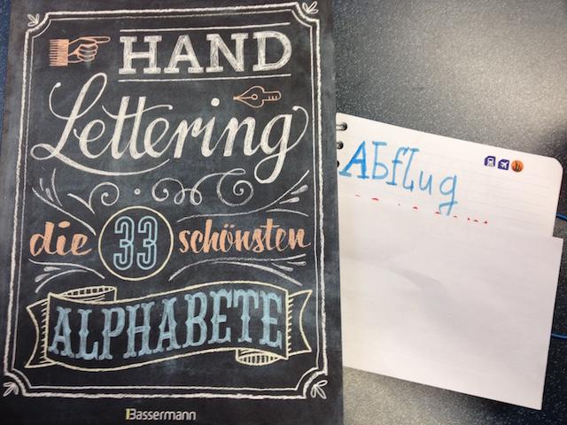 Handlettering von Kerstin Cornils in verschiedenen Schriften nach dem Buch Handlettering die 33 schönsten Alphabete