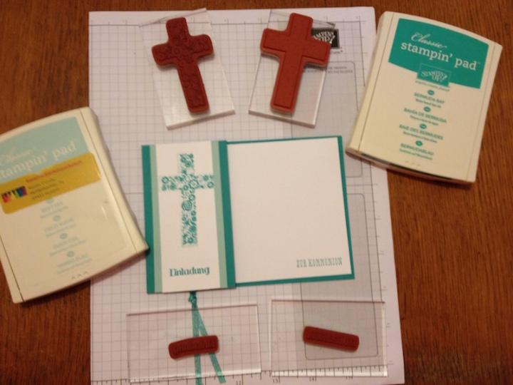 Einladungskarte zur Kommunion 2018 in Bermuda Material