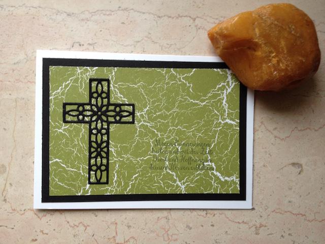 Trauerkarte in Olivgrün und Schwarz mit Stampin Up Produkten gestaltet