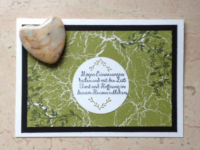 Trauerkarte mit dem Stampin Up Stempelset Hoffe und Glaube gestaltet