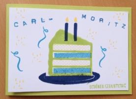 Geburtstagskarte für Kinder mit Produkten von Stampin Up