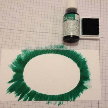 Oval Masking Stamp Technik 3