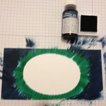 Oval Masking Stamp Technik 4