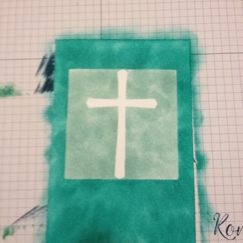 Quadrat Masking Stamp Technik 4