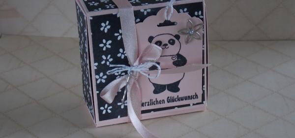 Box ohne kleben mit Produkten von Stampin Up gestaltet.