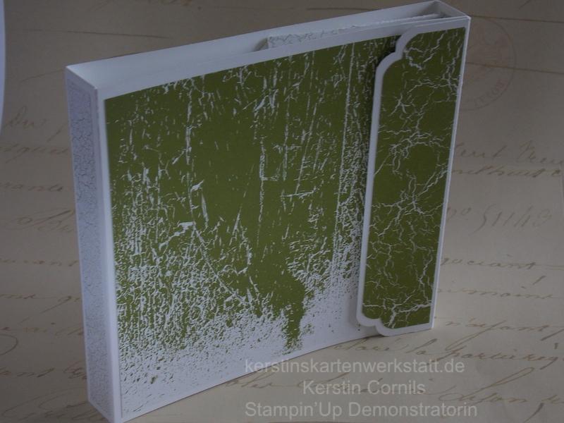 Flipbook mit einer Seite mit Material erstellt von Stampin Up