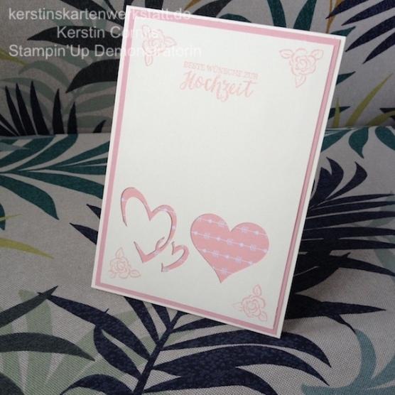 Hochzeitskarte nach einer Idee aus dem Buch Kreative Karten vom EMF Verlag