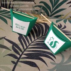 Topp Schachtel smaragdgrün