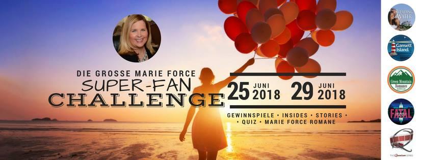 Banner: Die grosse Marie Force Super- Fan Challenge