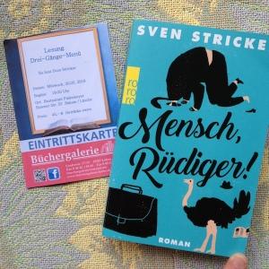 Lesung: Sven Stricker: Mensch, Rüdiger!