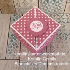 Box mit Flügeln 7 x 7 cm in rosa für dich
