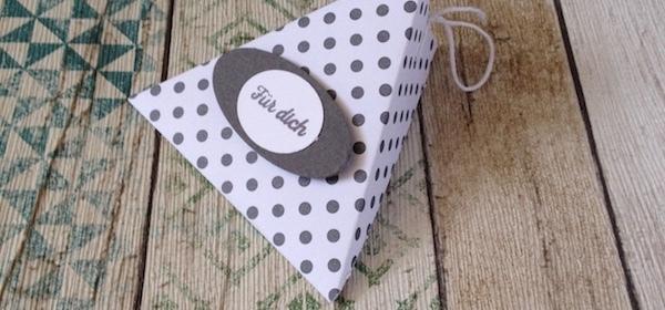 Dreieck Verpackung, Mitbringsel, Goodie, Für Dich, Kleinigkeit zum Geburtstag,