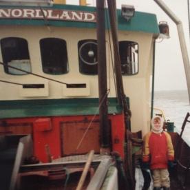 Ich an Bord der Nordland an Ostern