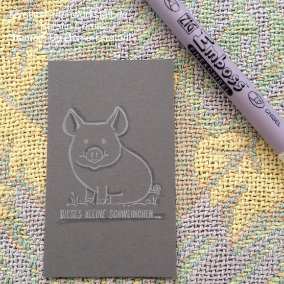 Versa Shadowing Technik mit Schwein 6