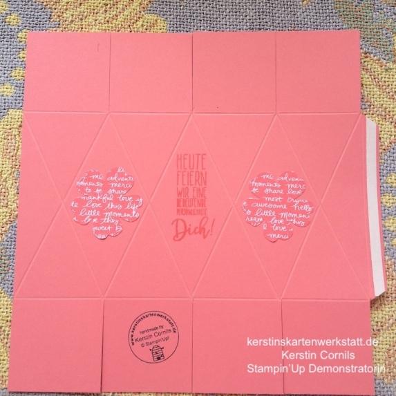 Anleitung für die Facetten Box aus einem DIN A4 Bogen von Kerstins Kartenwerkstatt