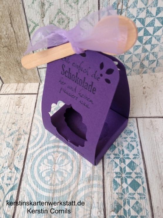 Schoko-Korb lila