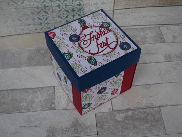 Weihnachten Explosionsbox Schachteln 1