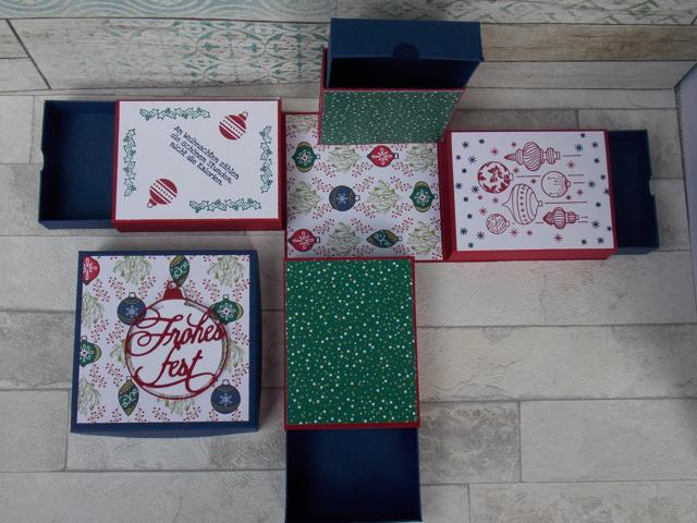 Weihnachten Explosionsbox Schachteln 4