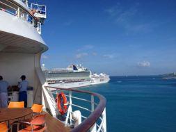 Kreuzfahrtschiffe im Hafen von Barbados
