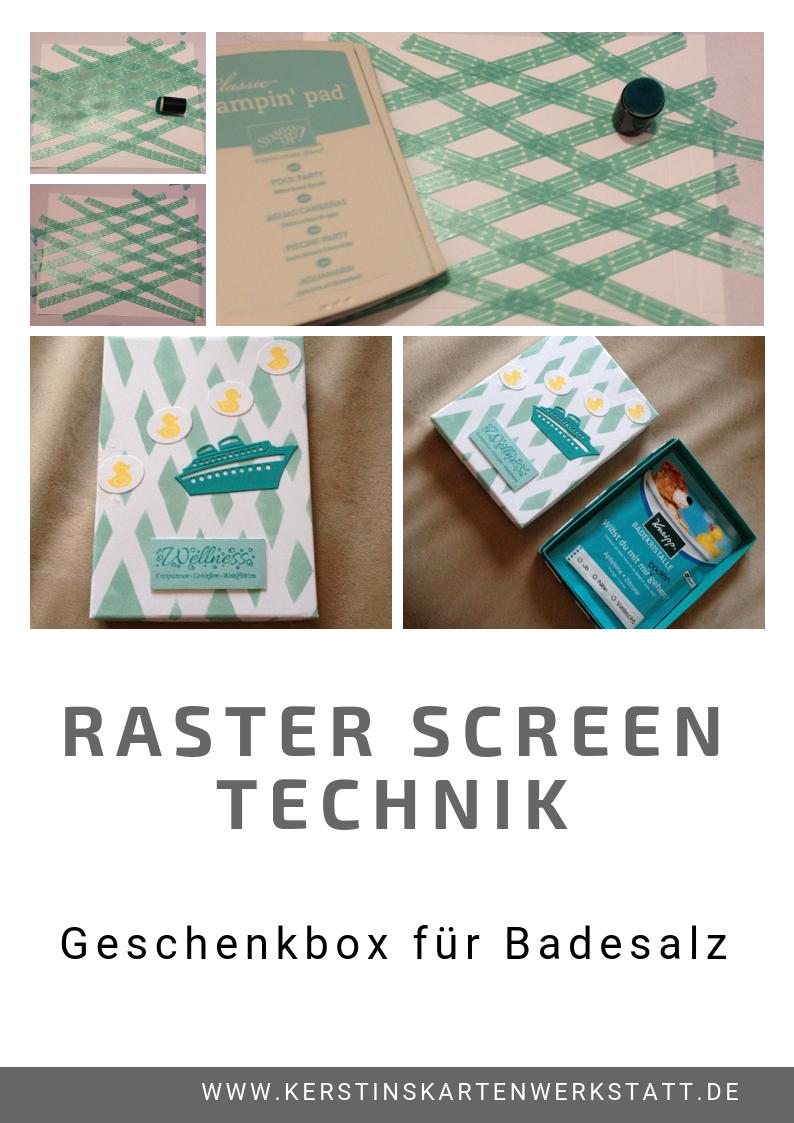 Raster Screen Technik Anleitung