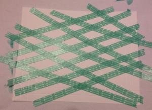 Raster Screen Technik mit Flüsterweißem Papier von Stamin'Up und Washi Tape