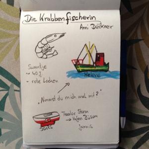 Sketchnote: Die Krabbenfischerin von Anni Deckner