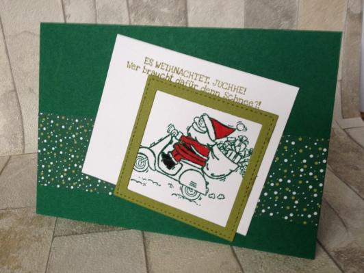 Weihnachtskarte Roller