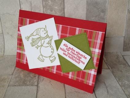 Weihnachtskarte Schlittschuh