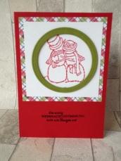 Weihnachtskarte Schneepaar