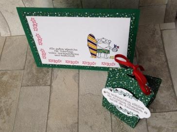 Weihnachtskarte Surfer und Box