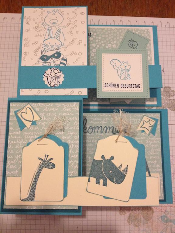 """Zwei weitere Projekte auf meinem Bastelwochenende in Holdorf waren die """"Double-Z-Fold-Card"""" und die """"Masken Technik""""."""