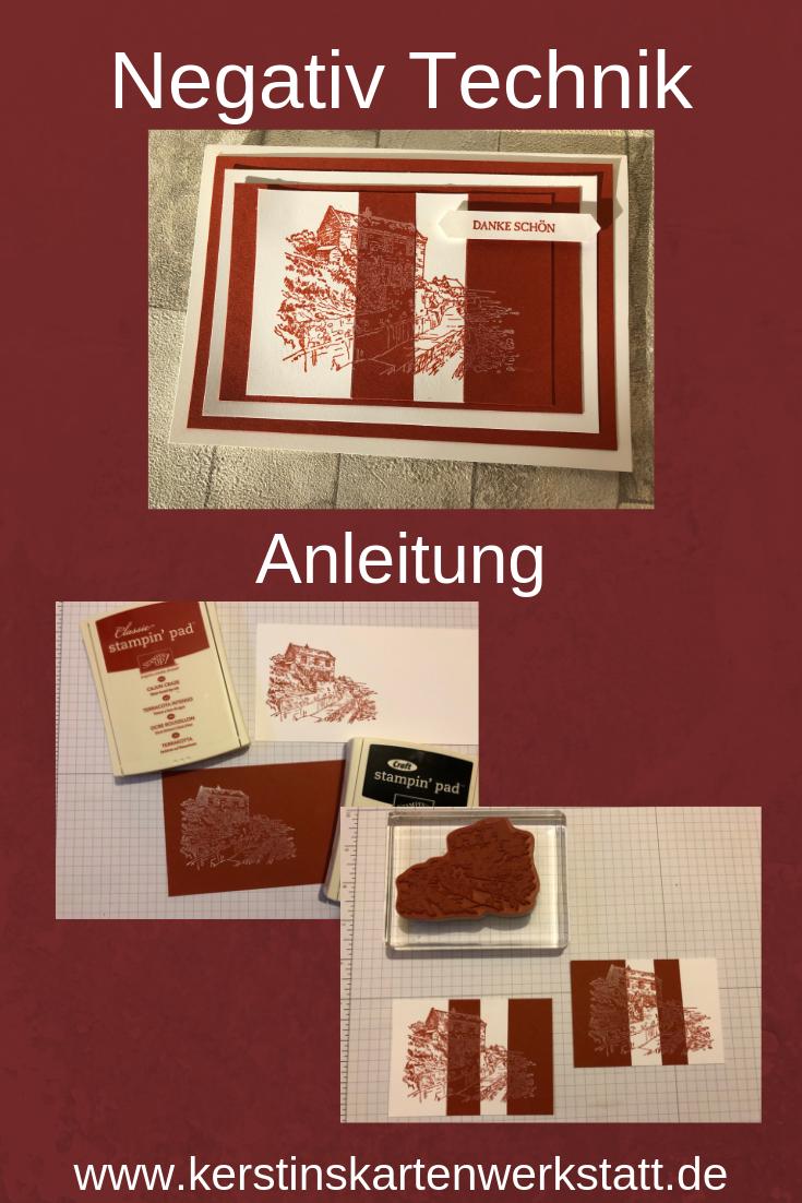 Negativ Technik, Anleitung für die Stempeltechnik von Kerstins Kartenwerkstatt
