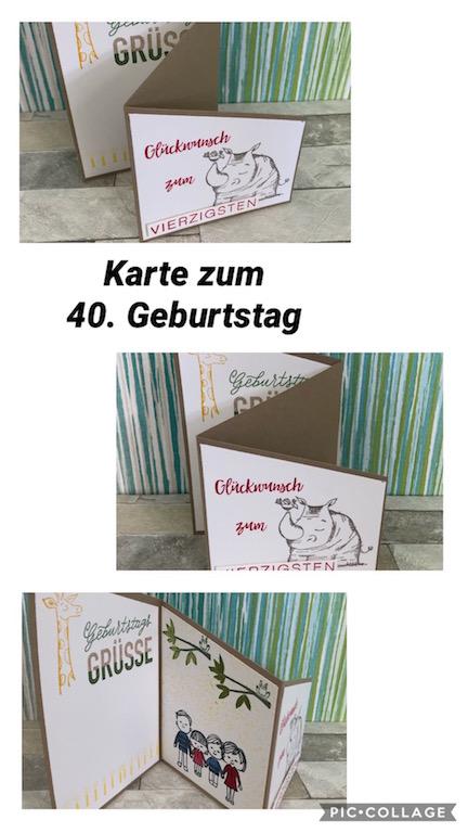 Geburtstagskarte zum Vierzigsten