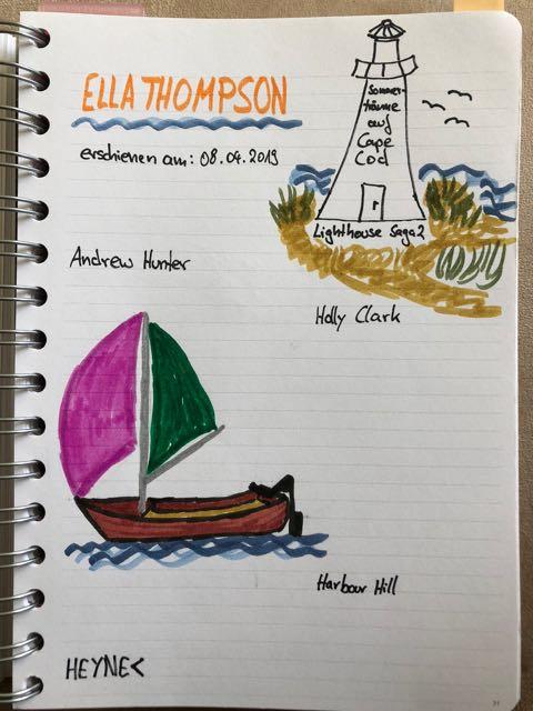 Sketchnote zum Buch: Sommerträume auf Cape Cod von Ella Thompson